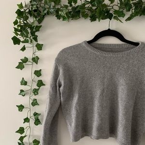Sweaters - ☆ WOOL CROPPED SWEATER ☆